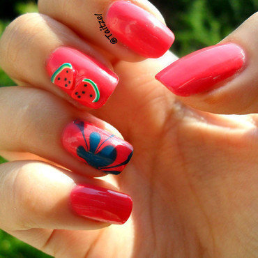 Watermelon you say nail art by Teo