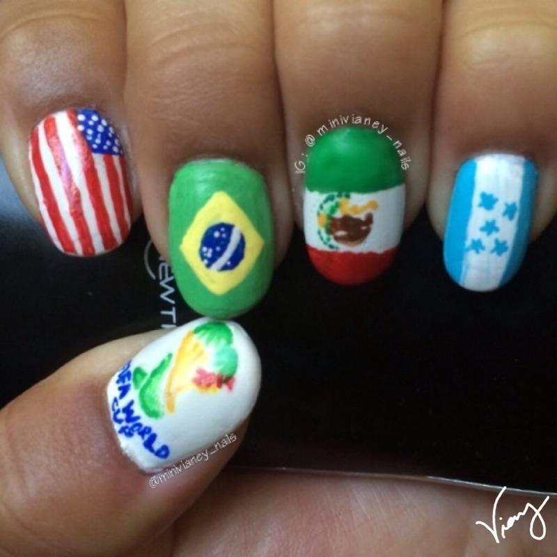 World Cup nails  nail art by minivianey