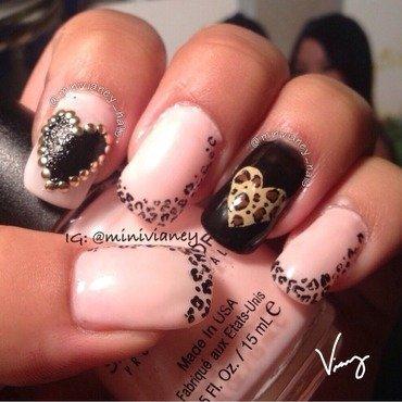 Cheetah Love nail art by minivianey