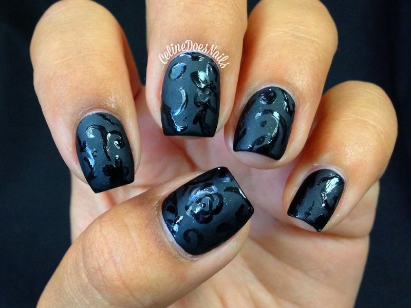 Matte Floral Nail Art nail art by Celine Peña