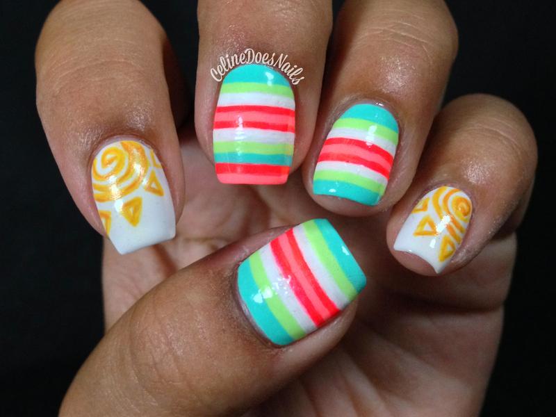 Sunshine Nail Art nail art by Celine Peña