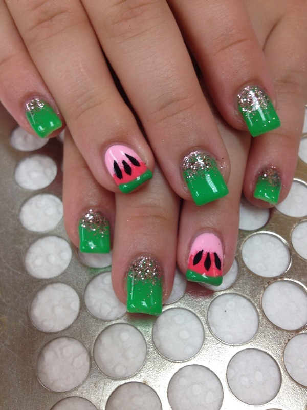Juicy nail art by Victoria Zegarelli nail bar Lounge