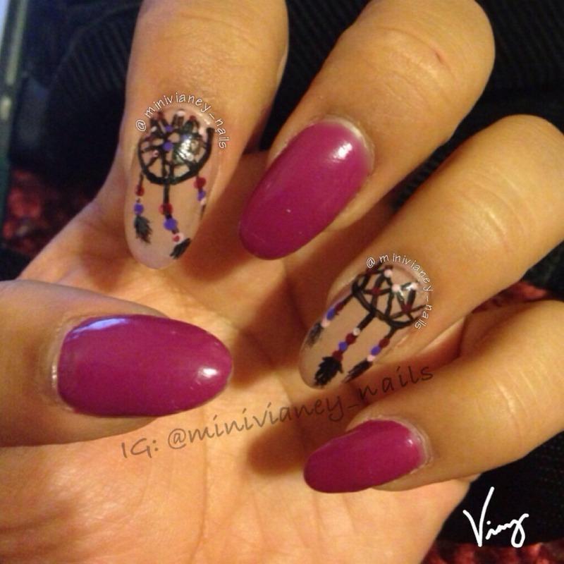 Dream catchers nail art by minivianey