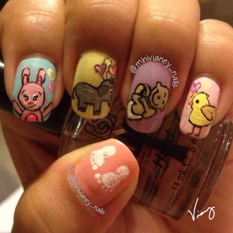 It's a baby  nail art by minivianey