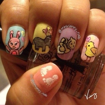 It's a baby  nail art by minivianey