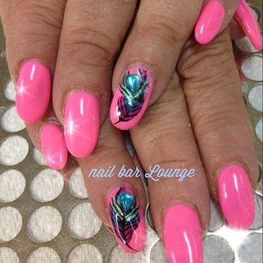 Birds of a Feather nail art by Victoria Zegarelli nail bar Lounge