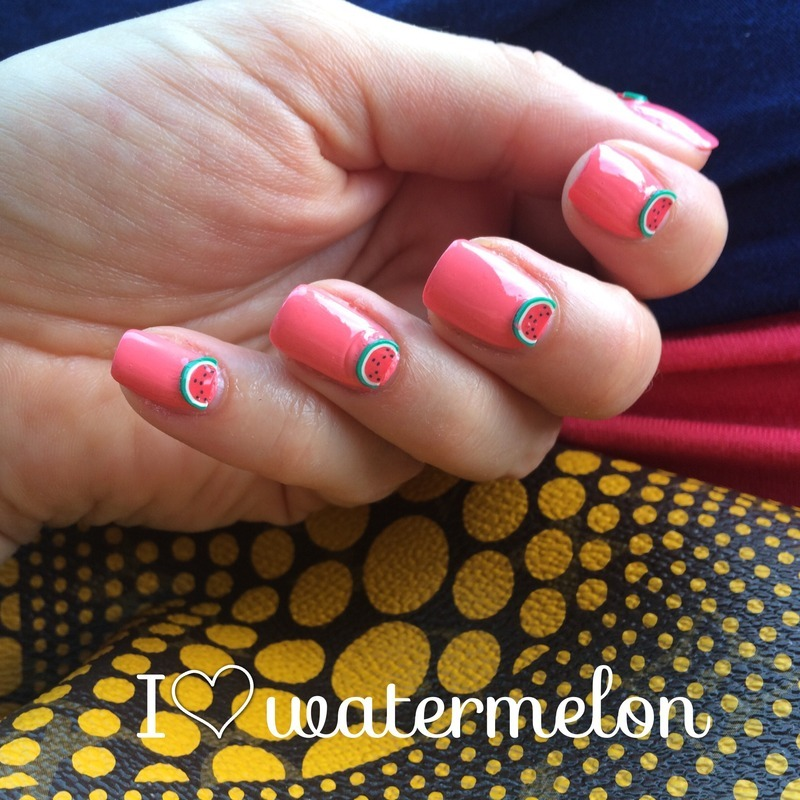 Watermelon nails nail art by Lindsay