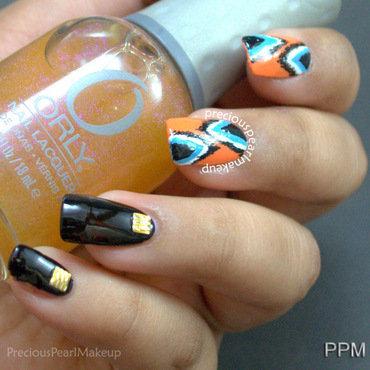 Ikat Nails nail art by Pearl P.