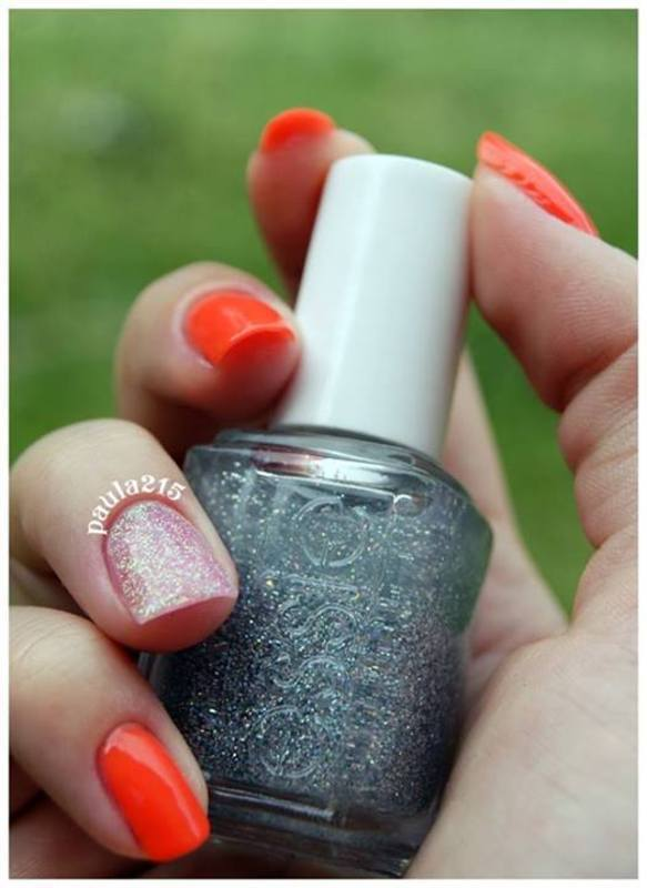 Orange:) nail art by Paula215. NAILS