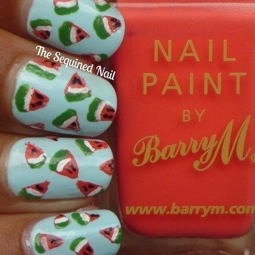 Mini watermelon nails thumb370f