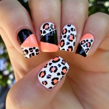 Leopard color block nails 1 thumb370f