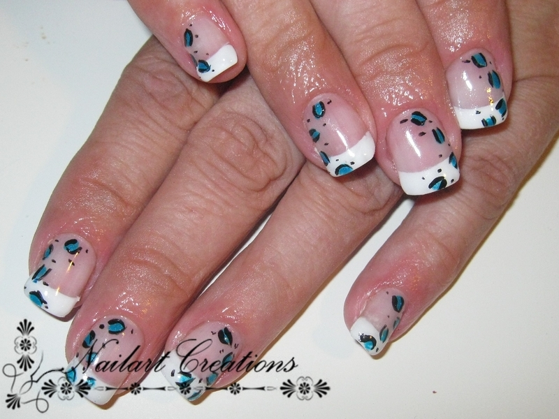 French Leopard nail art by Nailart Creations