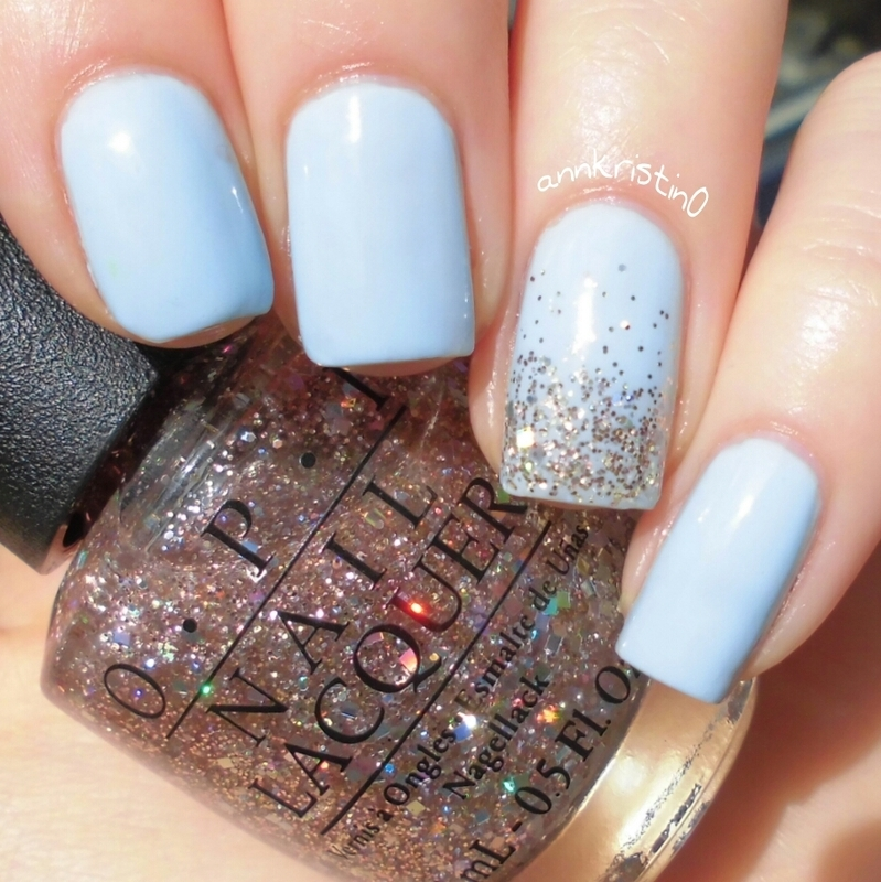 Gel Nails Design Light Blue