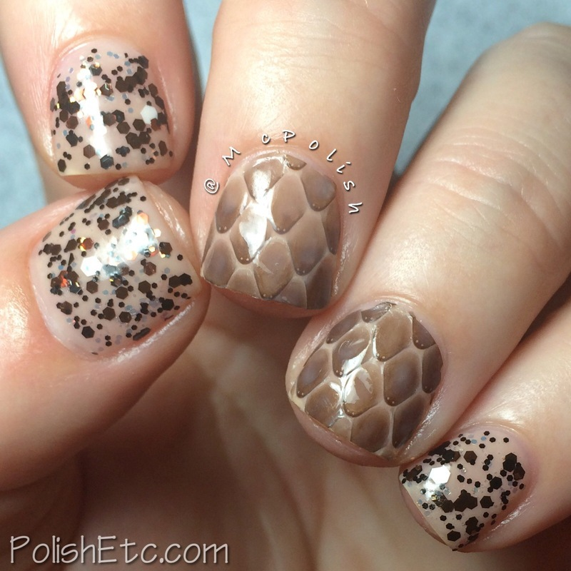 McPolish's Real Snake Skin Mani nail art by Amy McG