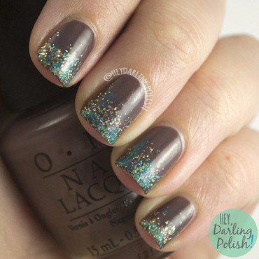 Funky brown glitter french tip nail art 4 thumb370f