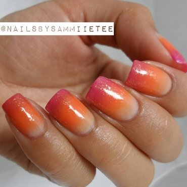 Vibrant Gradient nail art by NailsBySammiieTee