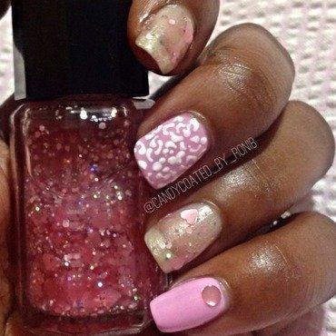 Pretty In P!NK nail art by Roni