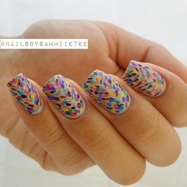 Brush Stroke Inspired Nails nail art by NailsBySammiieTee
