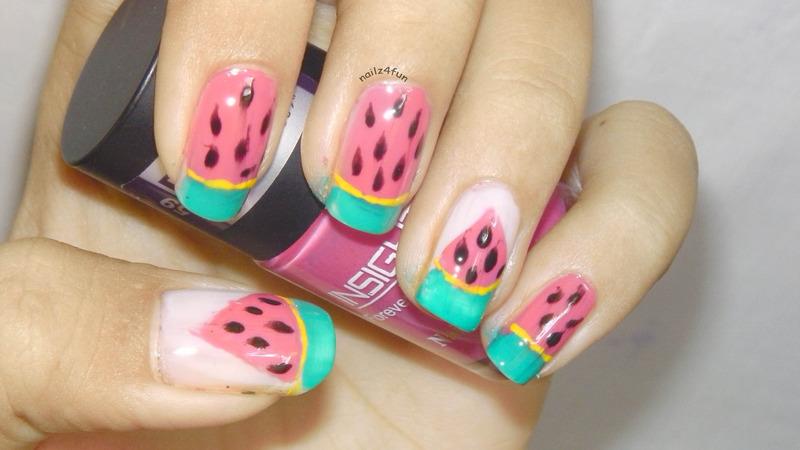 Watermelon Nails! nail art by Nailz4fun