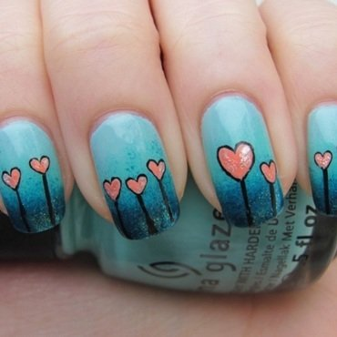 Love is like a garden. nail art by Lumi