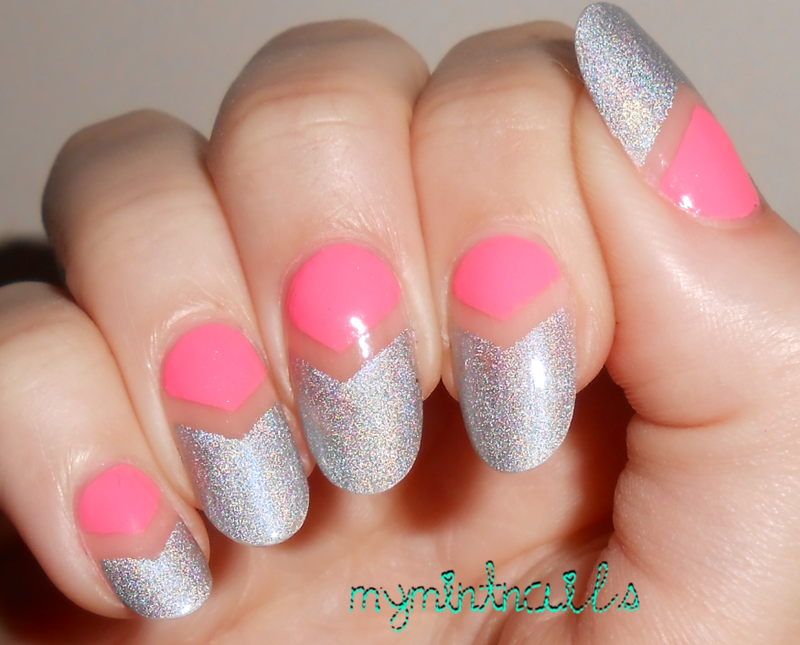 V-negatives nail art by MyMintNails