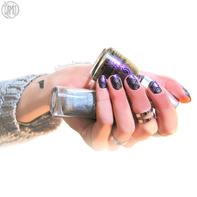 MoYou London Shell stamping nail art by Paulina