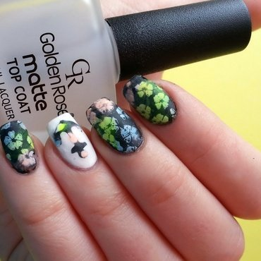Floral anchor nail art nail art by KonadAddict