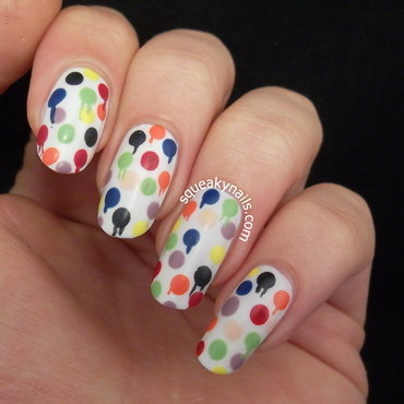 Abstract Spot Painting  nail art by Squeaky  Nails