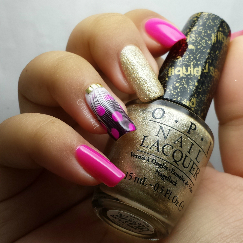 Sophisticated Feather Nails nail art by OnailArt