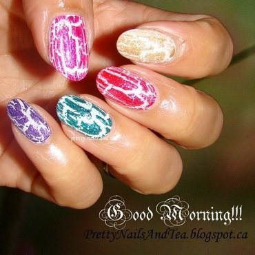 The Abstract Mosaic nail art by PrettyNailsAndTea