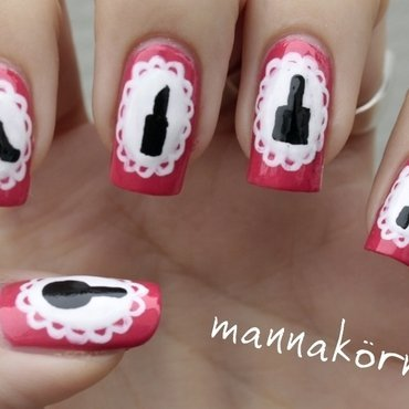 girly nail art nail art by Marianna Kovács