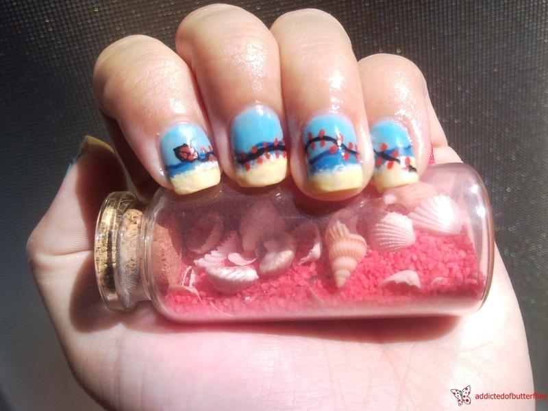 Kite nails nail art by Rita Mirabela - Nailpolis: Museum of Nail Art