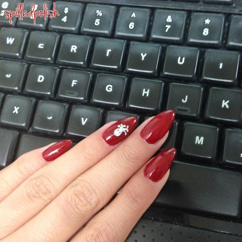 Red Carpet nail art by Maddy S