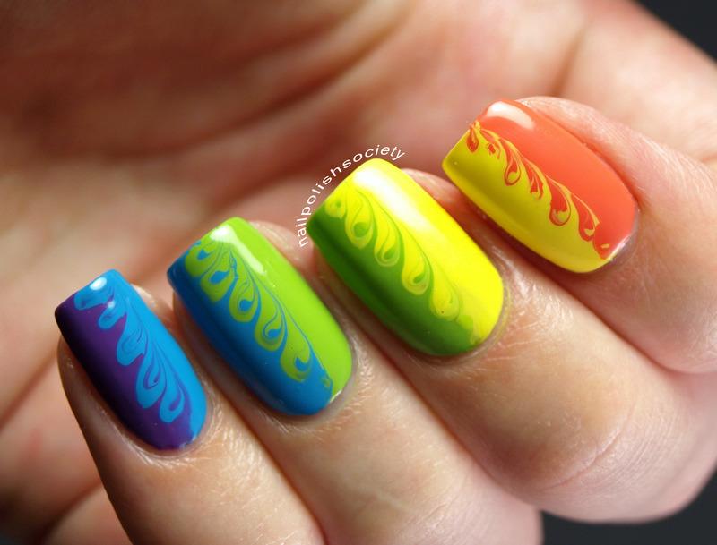 Rainbow Swirl Nails nail art by Emiline Harris - Nailpolis: Museum ...