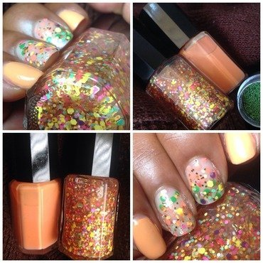 Candy Coated By Roni B Mango and Candy Coated By Roni B Fancy Swatch by Roni