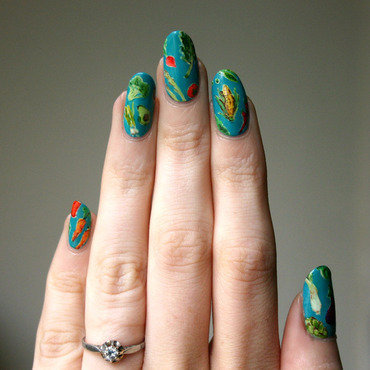 Eat Yer Vegetables! nail art by ladycrappo
