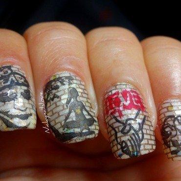 Graffitti nail art by Nicky