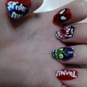 SpiderMan!!!!!! nail art by JessJar19