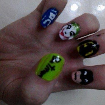 Batman!!! nail art by JessJar19