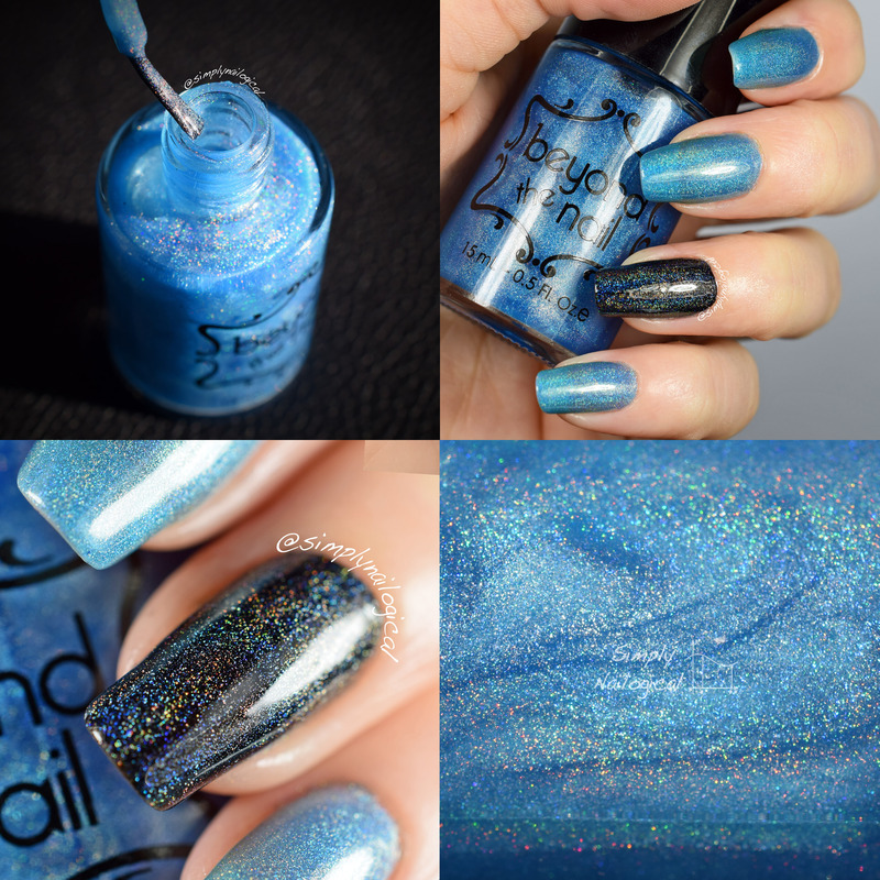Beyond The Nail Asteroid Swatch by simplynailogical