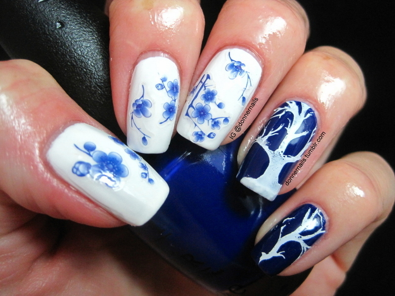 Blueming nail art by Donner