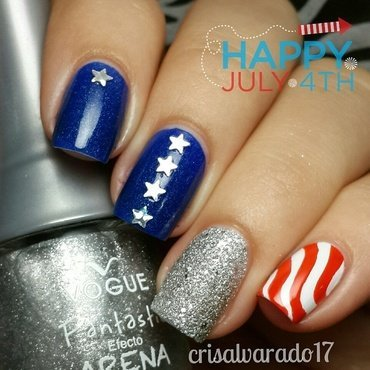 4th of July nail art by Cristina Alvarado