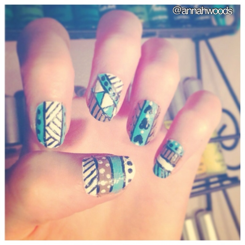 Tribal  nail art by annahwoods