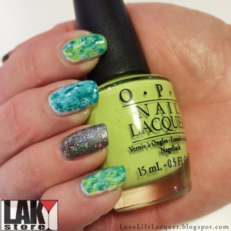 Dry brush nail art nail art by Love Life Lacquer