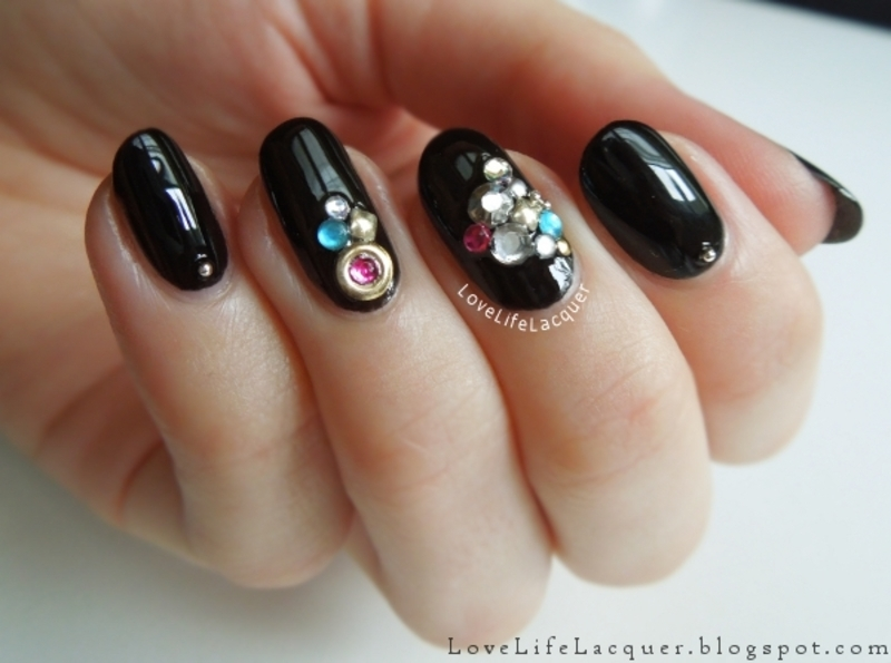 Fancy glitter nails nail art by Love Life Lacquer
