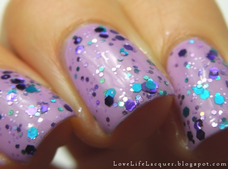 Temptation by Let it Glitter! nail art by Love Life Lacquer