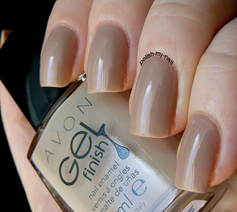 AVON Gel Finish - Barely There Swatch by Ewlyn