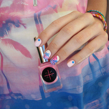 Pink sunset nail art by Restons polish