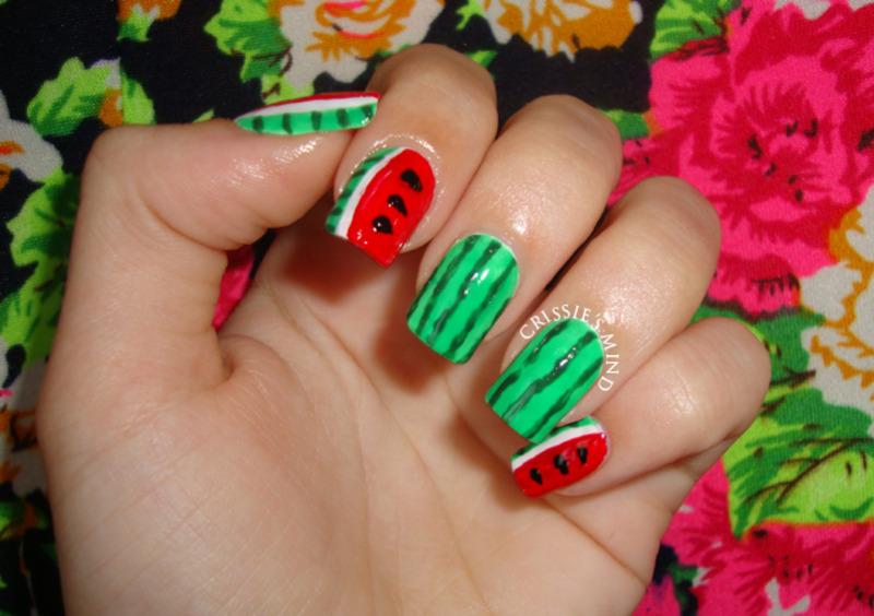 Watermelon nail art by Christina