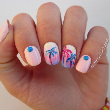Palmtrees 20nail 20art thumb370f